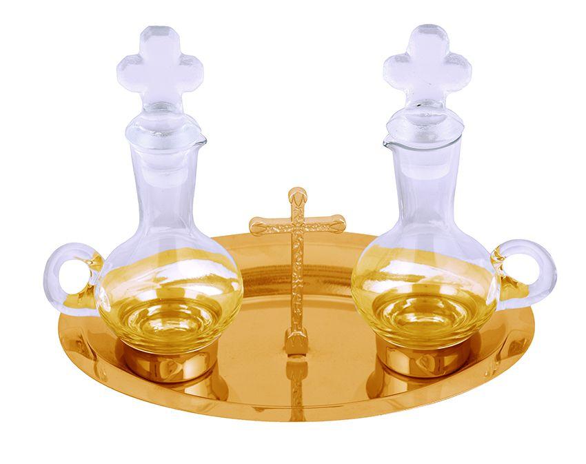Galheteiro de Vidro Dourado  750