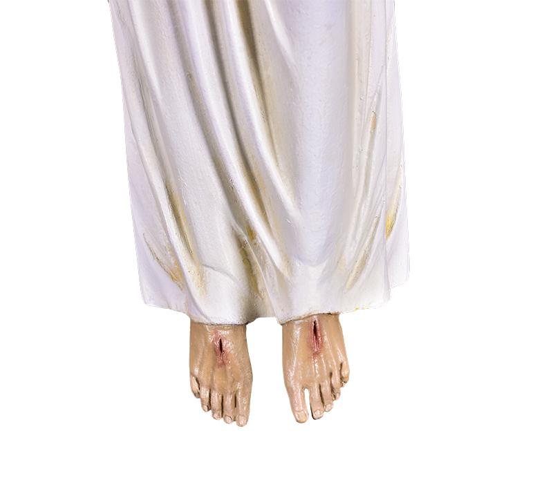 Imagem Cristo Ressuscitado com Túnica Fibra 60 cm