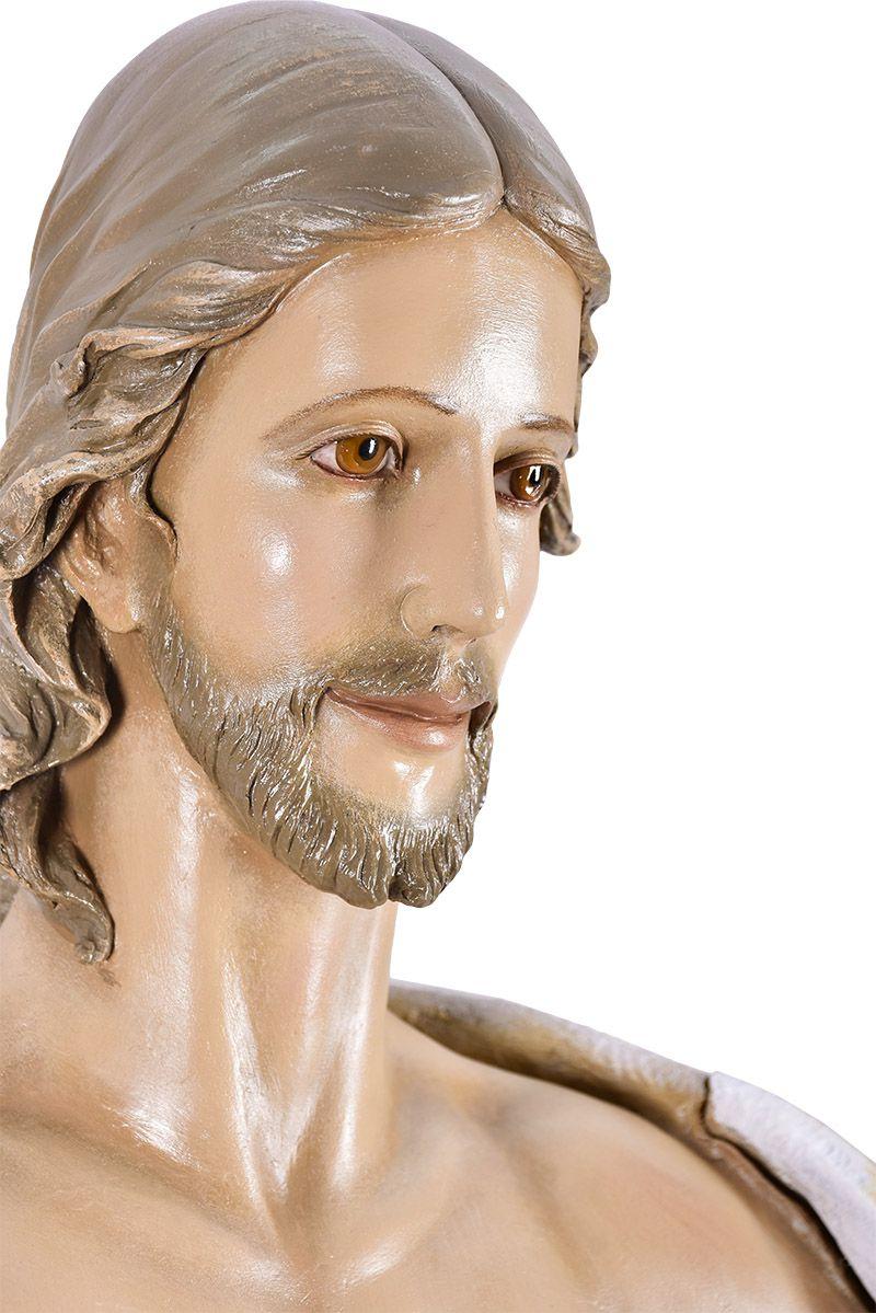 Imagem Cristo Ressuscitado Fibra 160 cm