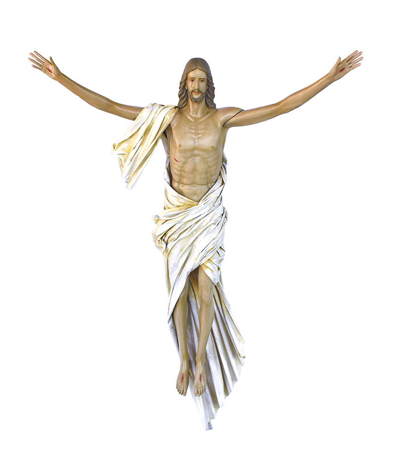 Imagem Cristo Ressuscitado Fibra 300 cm