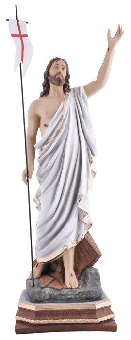 Imagem Cristo Ressuscitado com Base Resina 110cm