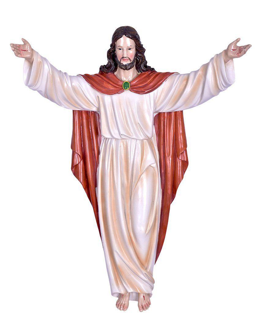 Imagem Cristo Ressuscitado Resina 50 cm