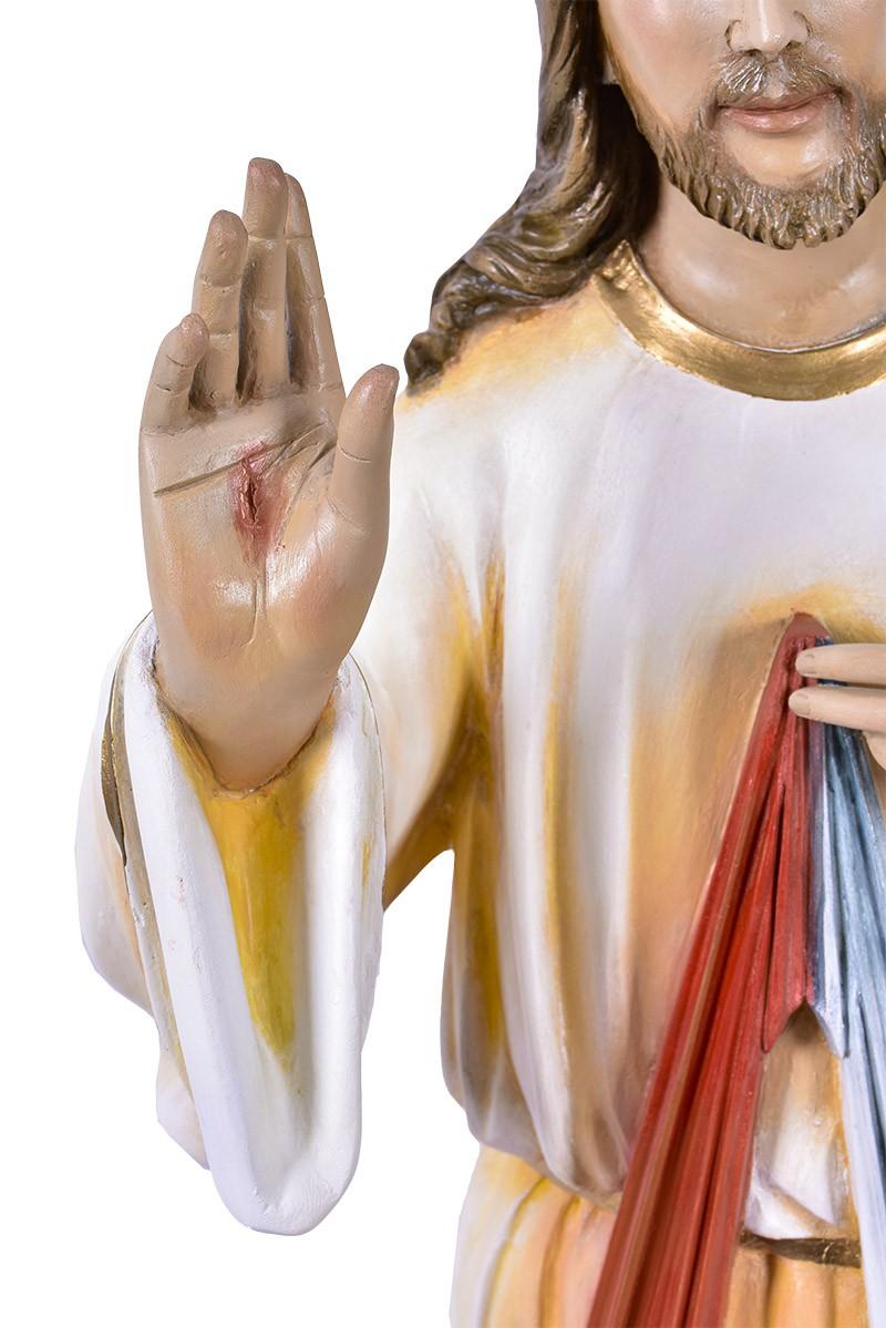 Imagem Jesus Misericordioso Fibra 130 cm