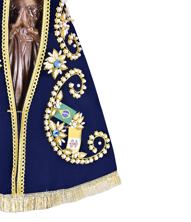 Imagem Nossa Senhora Aparecida Durata 37 cm com manto e coroa