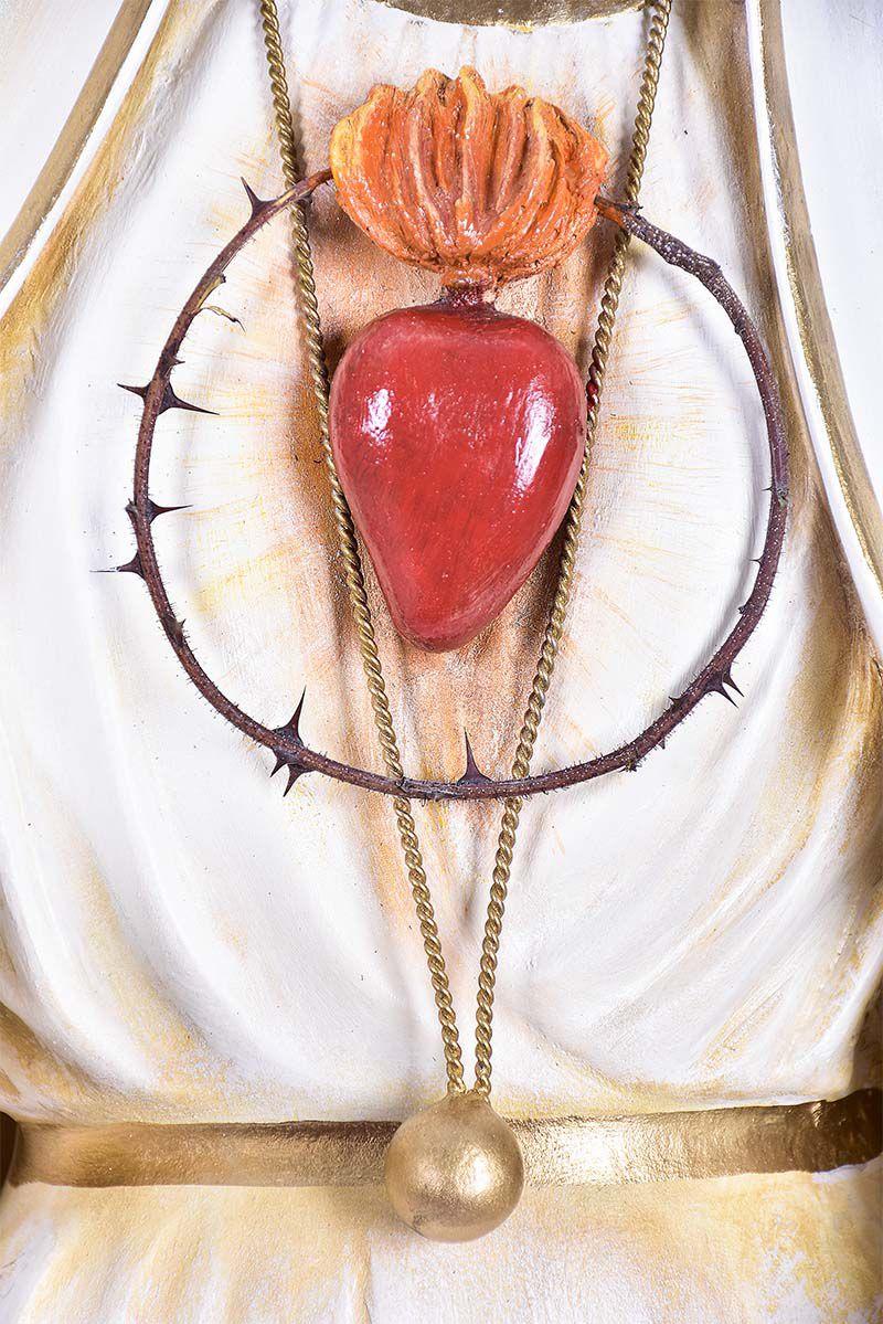 Imagem Nossa Senhora de Fátima Fibra 110 cm