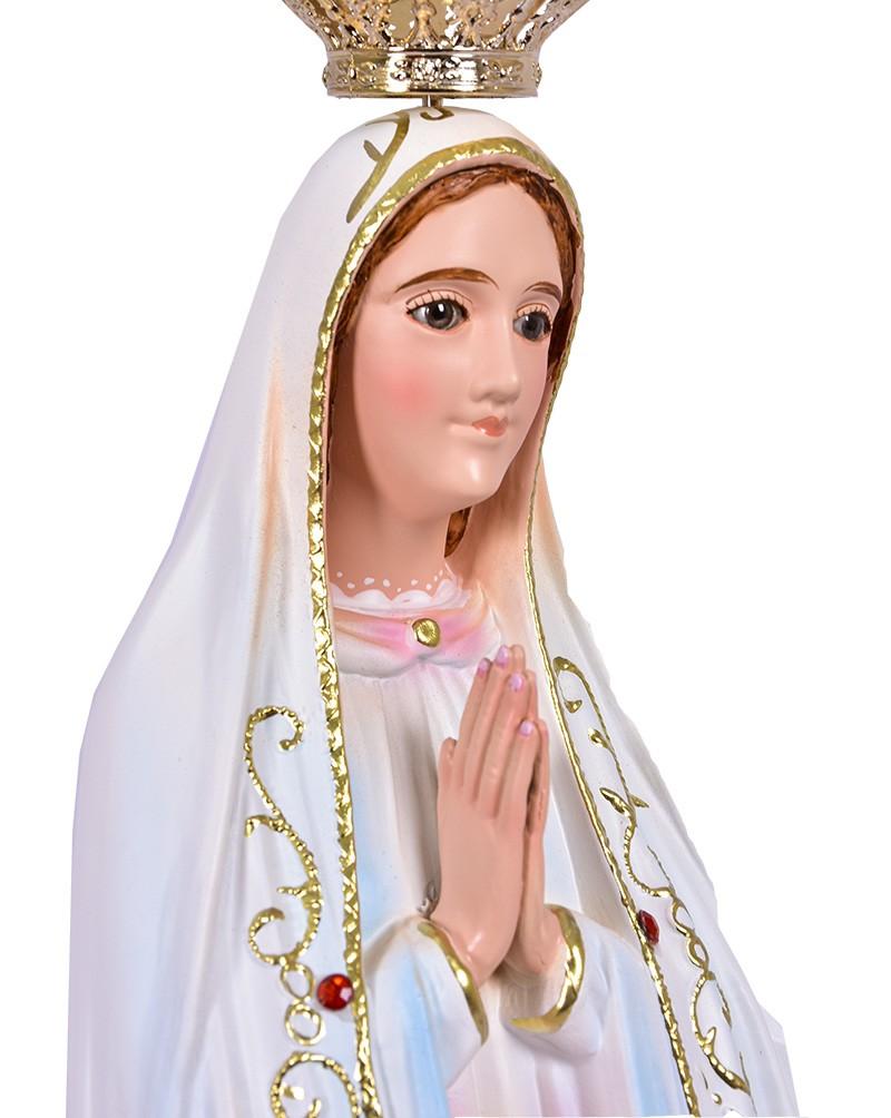 Imagem Nossa Senhora de Fátima Fibra 55cm