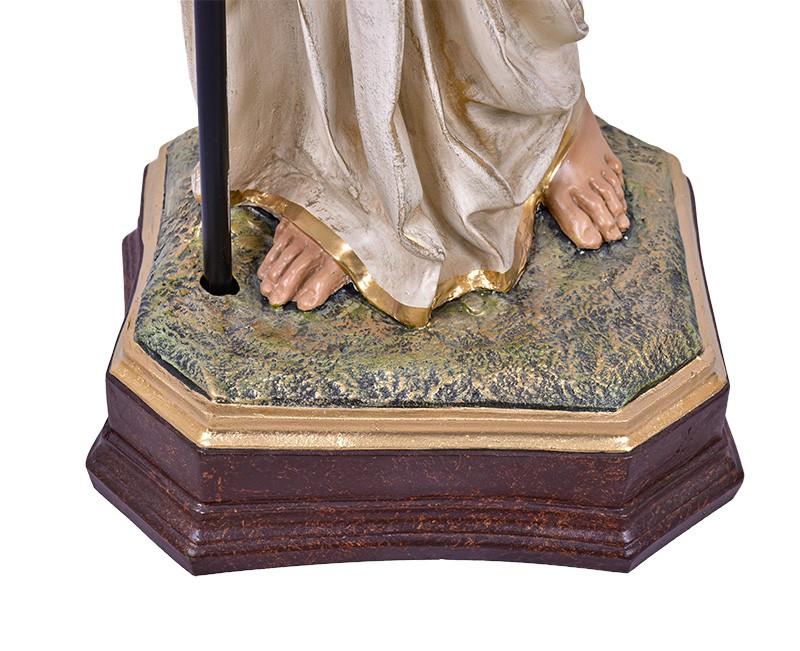 Imagem Par de Anjos com Candelabro Dourado Resina 115 cm