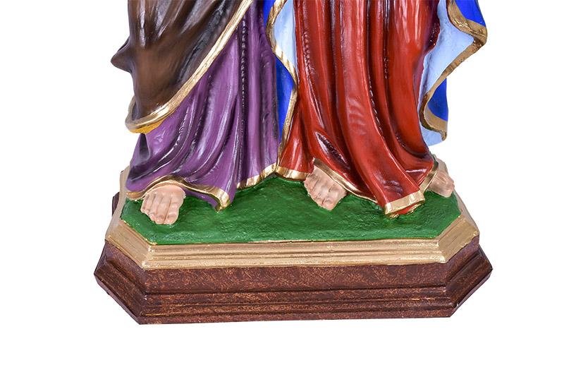 Imagem Sagrada Família Italiana Resina 78cm