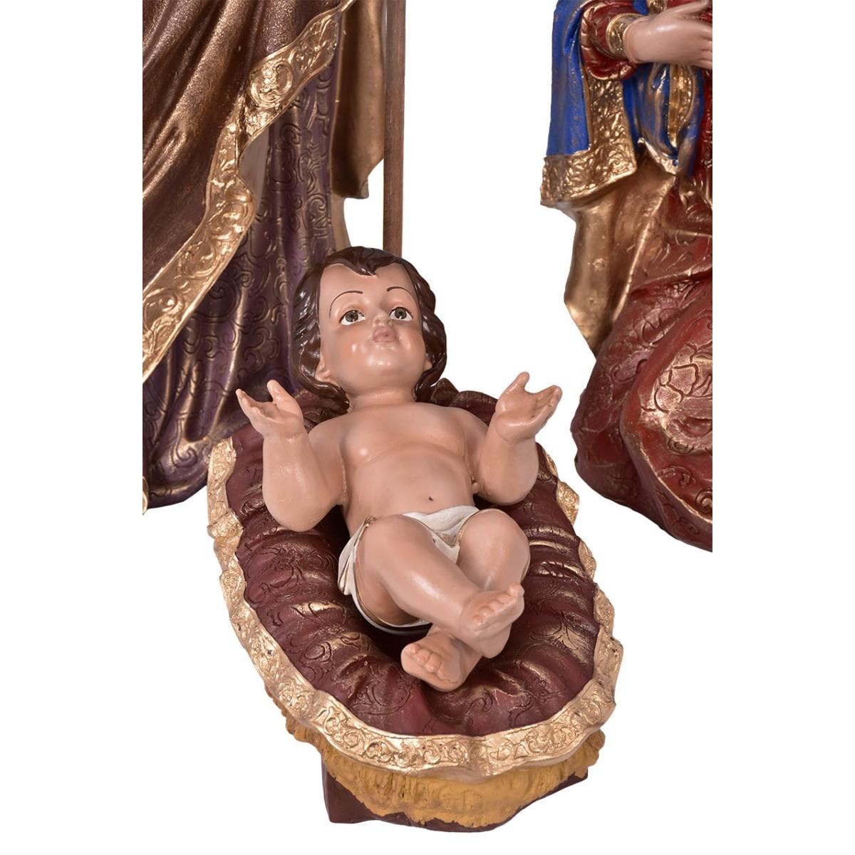 Imagem Sagrada Família Natal Resina 60cm