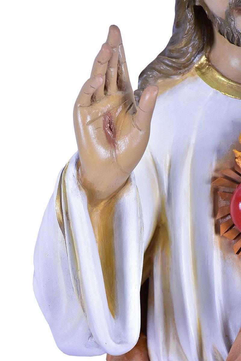 Imagem Sagrado Coração de Jesus Fibra 130 cm
