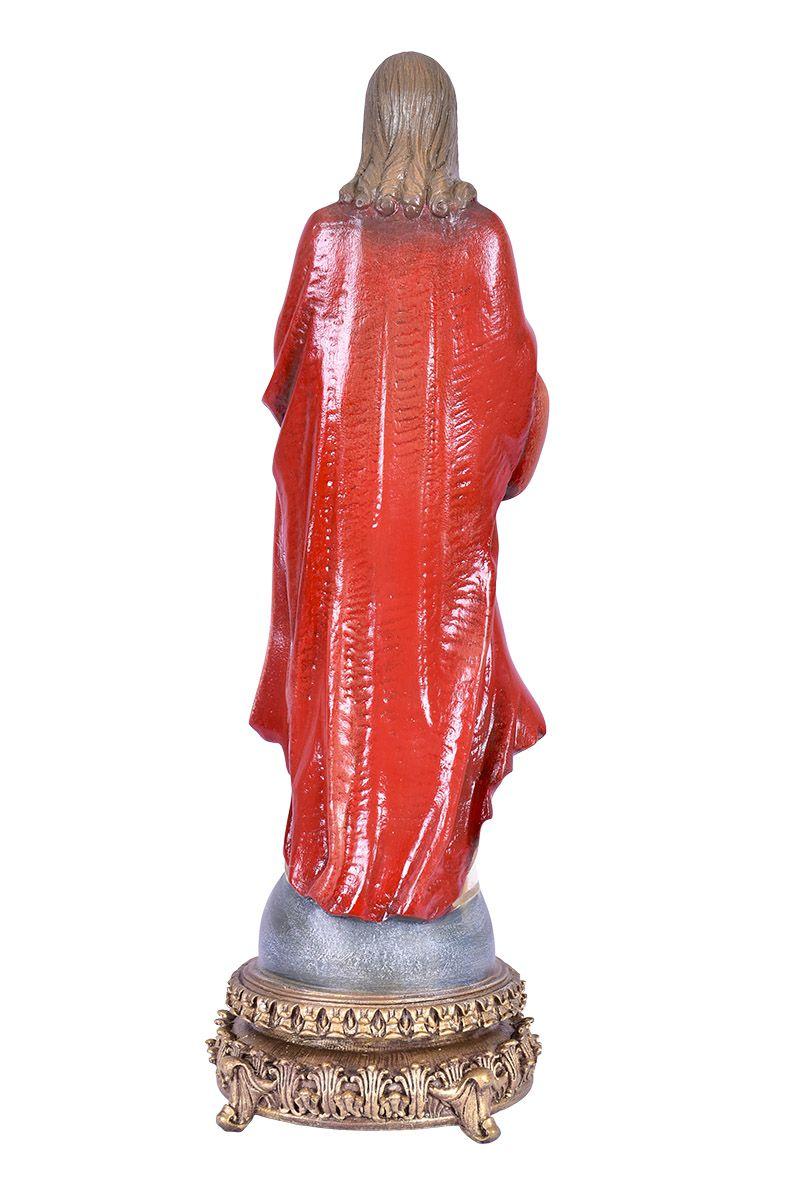 Imagem Sagrado Coração de Jesus Fibra 40cm