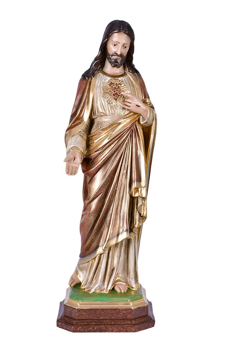 Imagem Sagrado Coração de Jesus Resina 60 cm Modelo 1