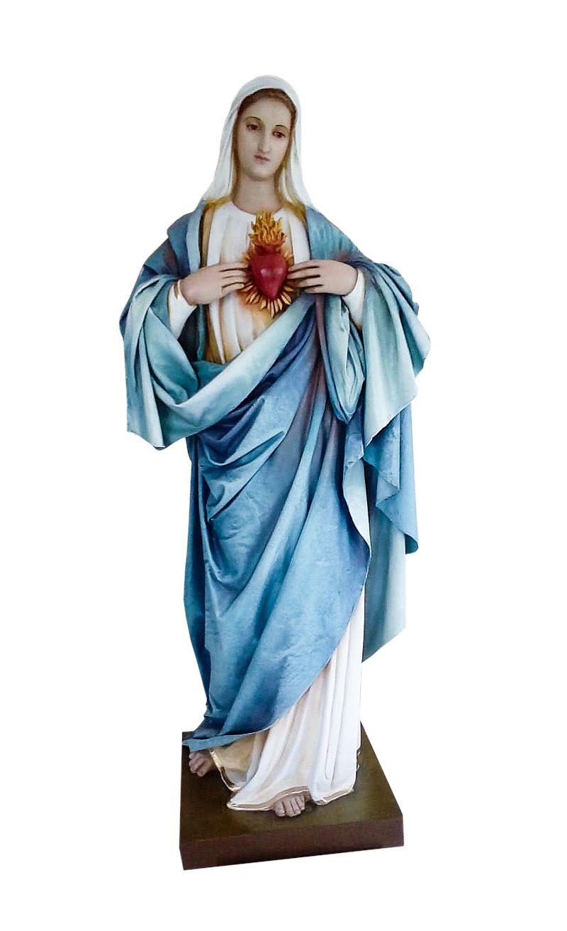 Imagem Sagrado Coração de Maria Fibra 130 cm