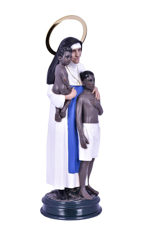 Imagem Santa Dulce dos Pobres 2 Crianças Durata 30cm
