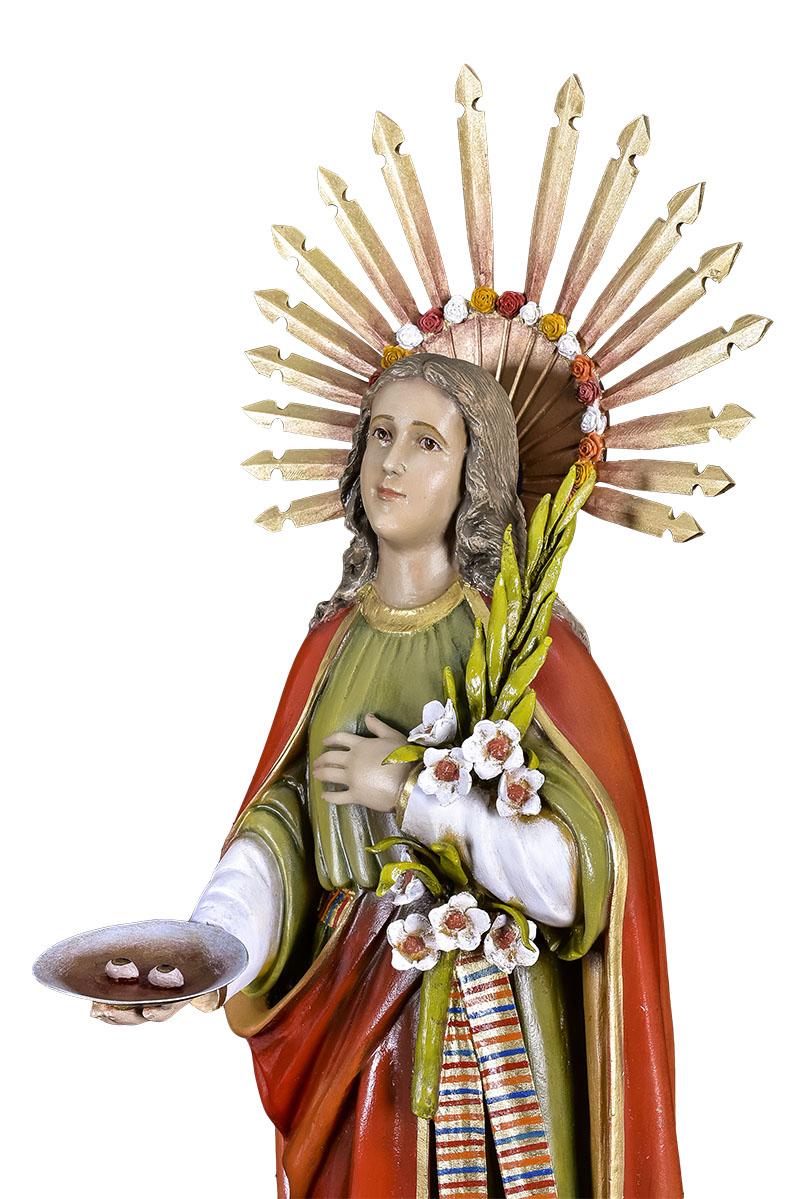 Imagem Santa Luzia Fibra 80 cm