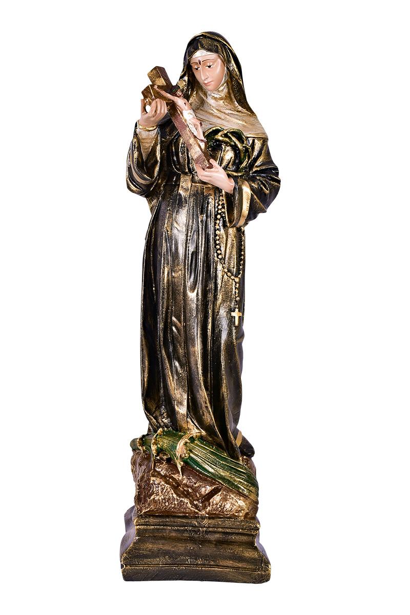 Imagem Santa Rita de Cássia Resina 60 cm