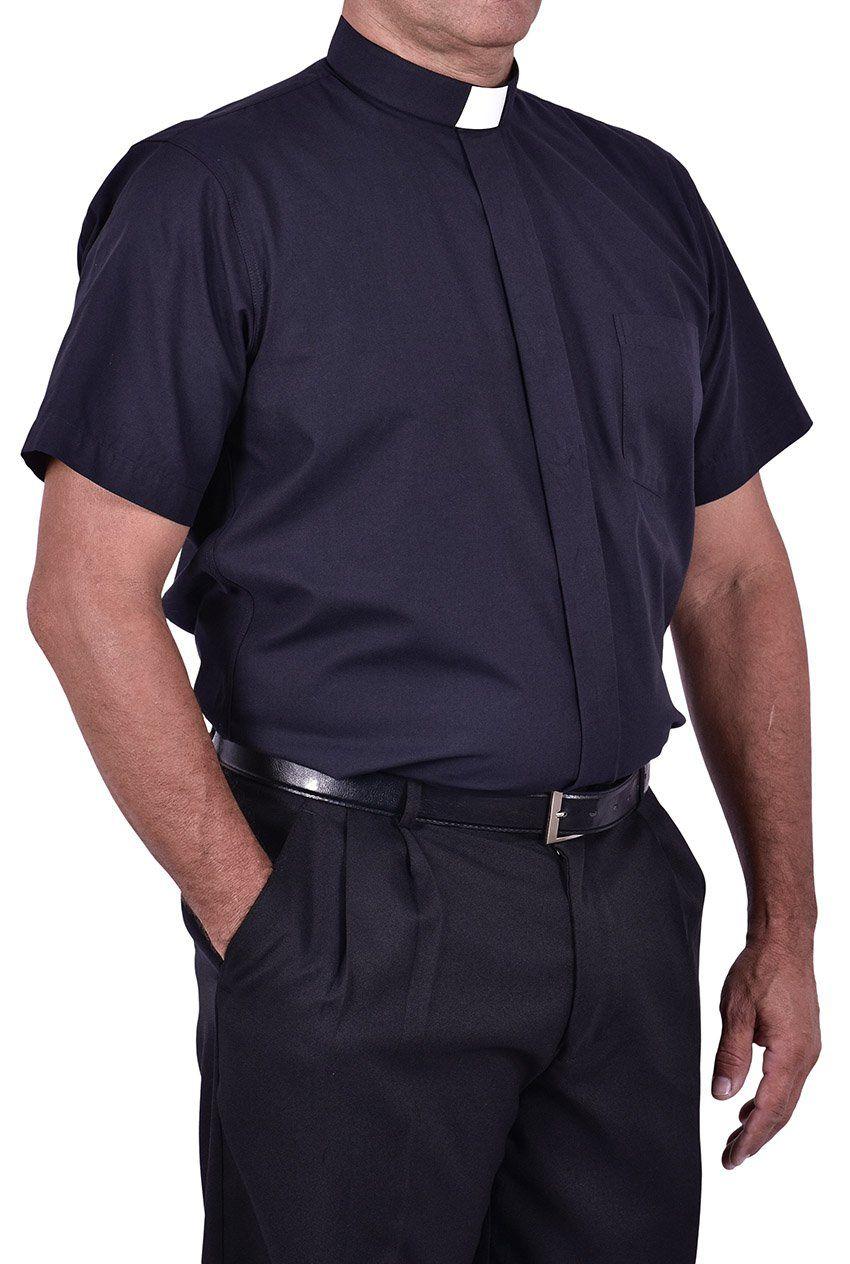 Kit 4 Camisas Clericais Tradicionais Manga Curta