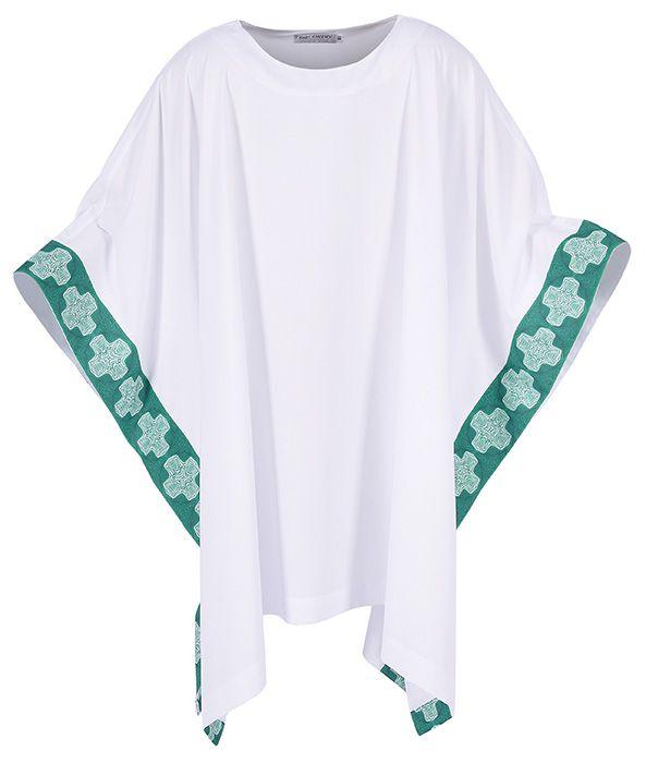 Kit Para Ministro 068 com Veste, Bolsa Viático e Teca + Crucifixo (brinde)