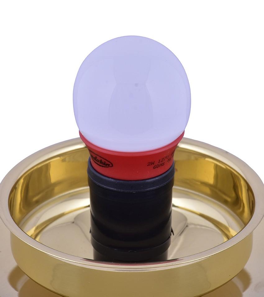Lâmpada Bolinha Vermelha LED