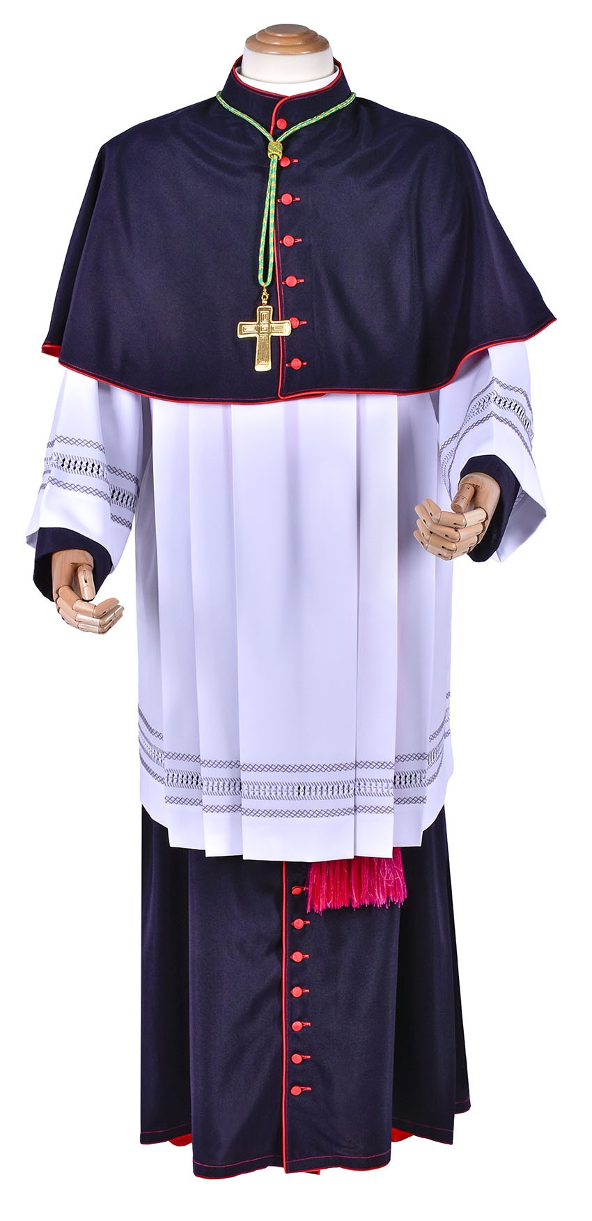 Mozeta Episcopal Lã Fria Preta MZ602