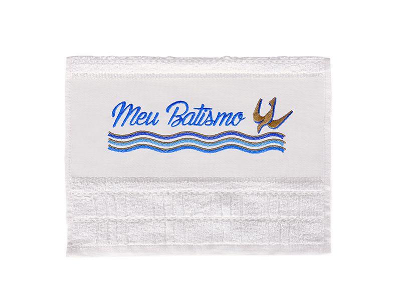 Toalha Algodão Meu Batismo Azul TH011