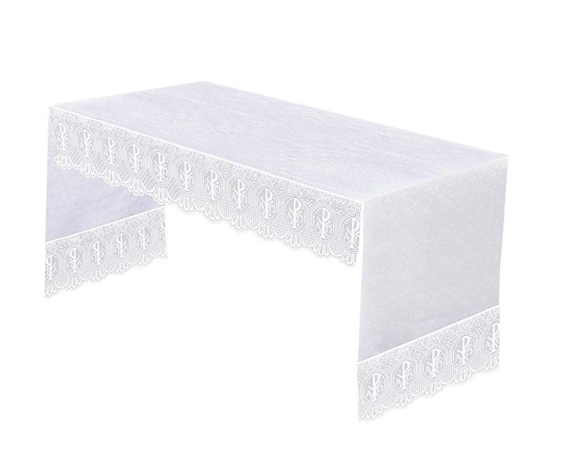 Toalha Altar 075 Frontal Renda Litúrgica PX 30cm TO210 até 4m