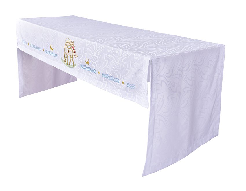 Toalha Altar 075 Bordada Frontal Cordeiro TO201 Bordado 218 cm