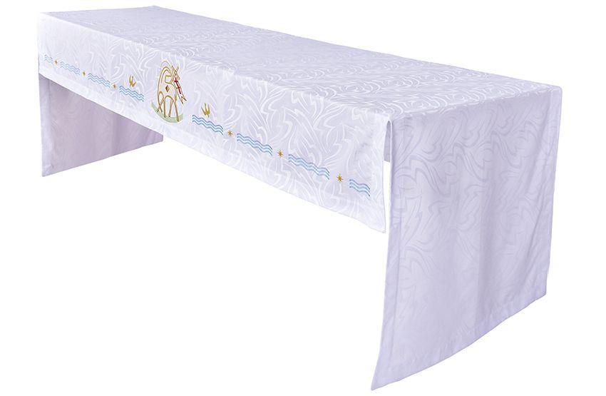 Toalha Altar 075 Bordada Frontal Cordeiro TO201 Bordado 296 cm