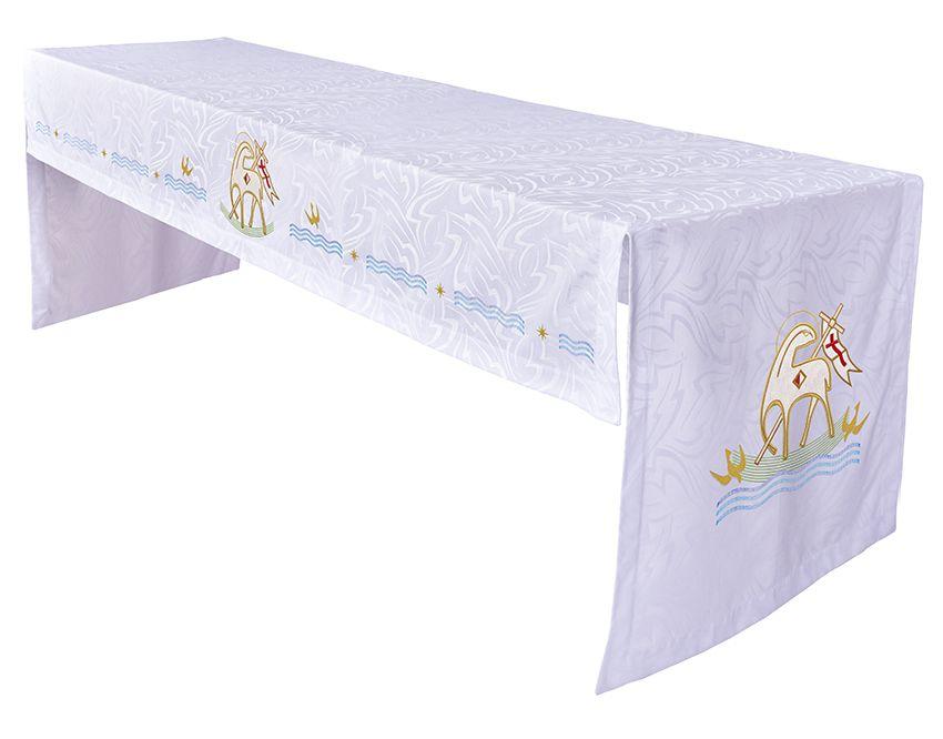 Toalha Altar 075 Bordada Frontal Cordeiro TO221 Bordado 296 cm