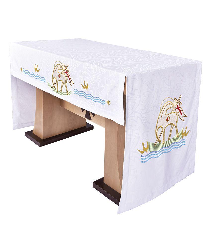 Toalha Altar 075 Bordada Frontal Cordeiro TO221 Bordado 218 cm