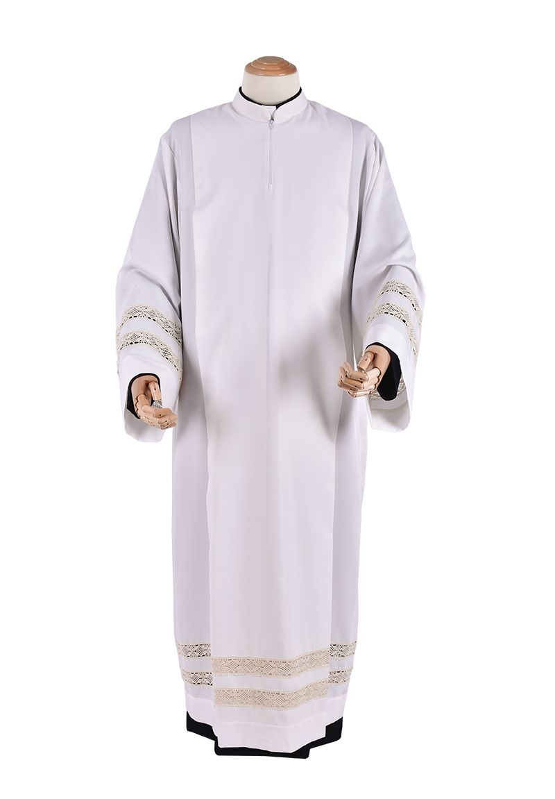 Túnica Prega Renda Entremeio Padre Pio TU016