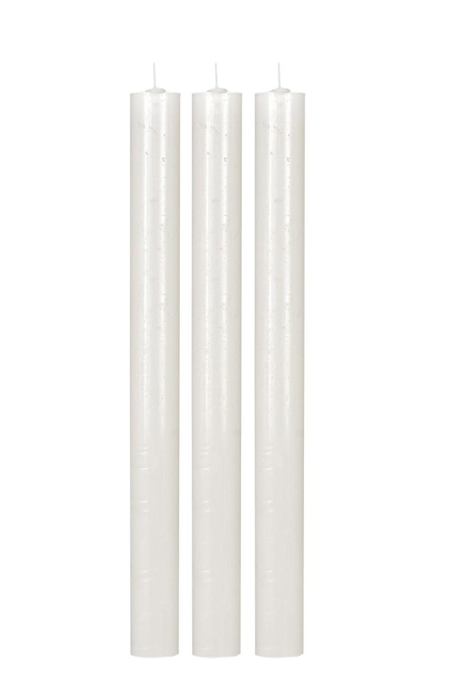 Vela Cilíndrica 3,5 x 38cm pacote com 3 unidades