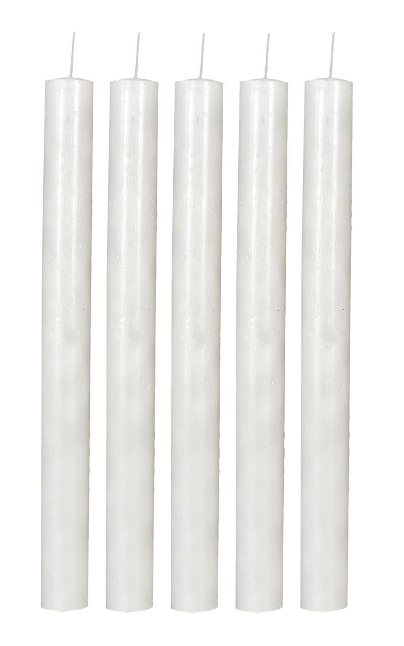 Vela Cilíndrica 3 x 31cm pacote com 5 unidades