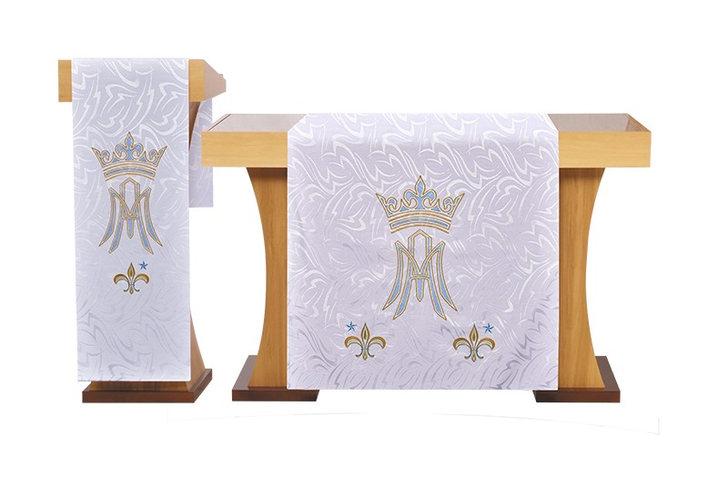 Véu de Altar Bordado Mariano FA133