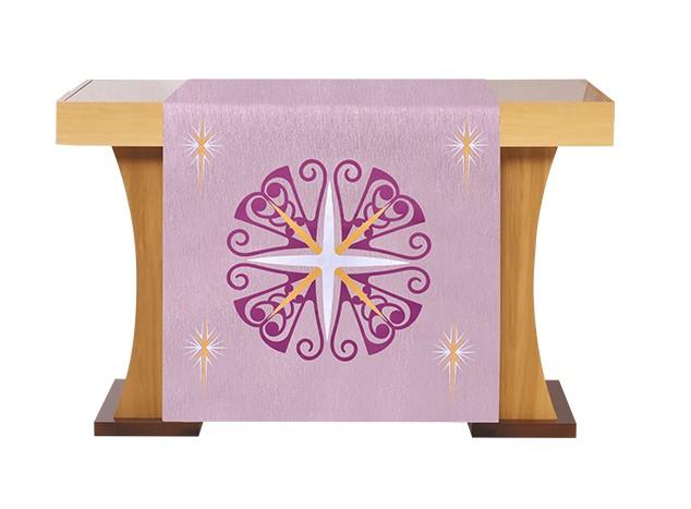 Véu de Altar para Celebração do Advento Róseo S228