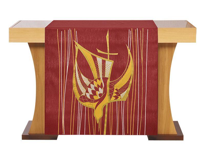 Véu de Altar Pentecostes Vermelho S203