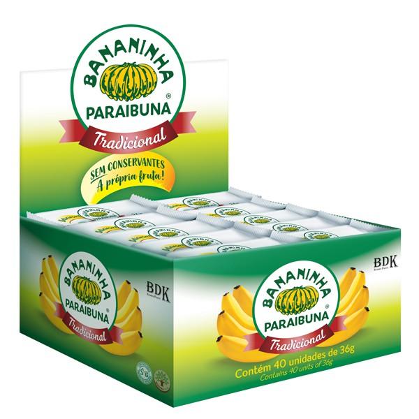 Bananinha Paraibuna com Açúcar Caixa 1,4kg (40x36g)
