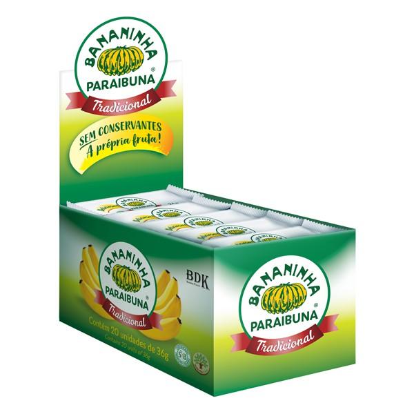 Bananinha Paraibuna com Açúcar Caixa 720g (20x36g)
