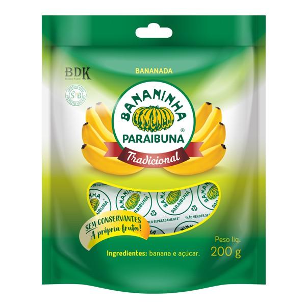 Bananinha Paraibuna com Açúcar Pacote 200g