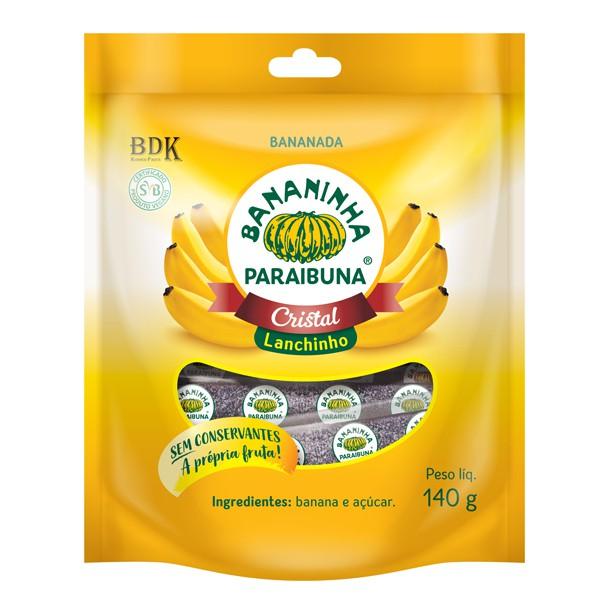 Bananinha Paraibuna Lanchinho de Banana Pacote 140g