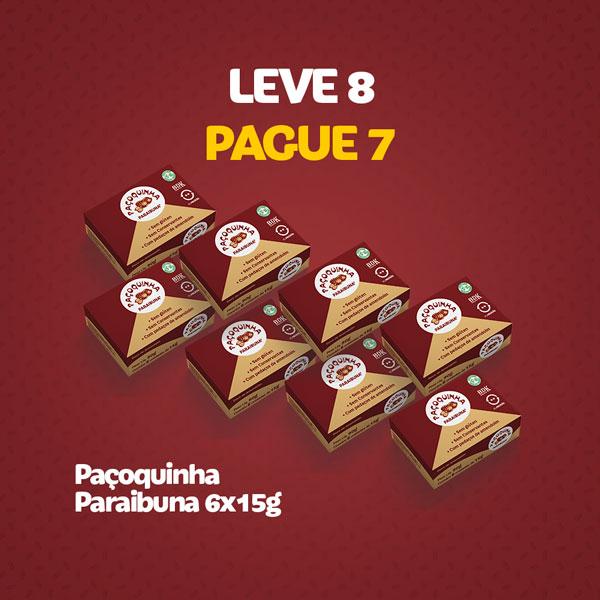 Promoção Kit Leve 8 Caixas Pague 7 Paçoquinha Paraibuna Vegano