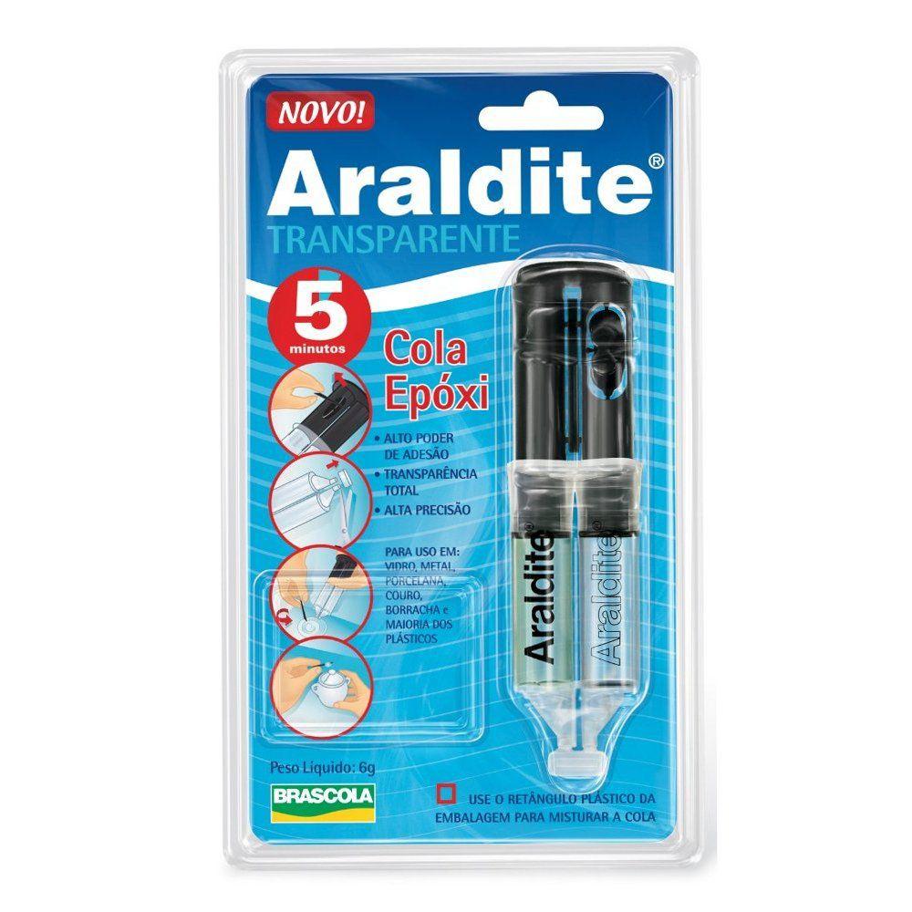 Araldite Transparente - 5 Minutos - 6g  - Nathalia Bijoux®