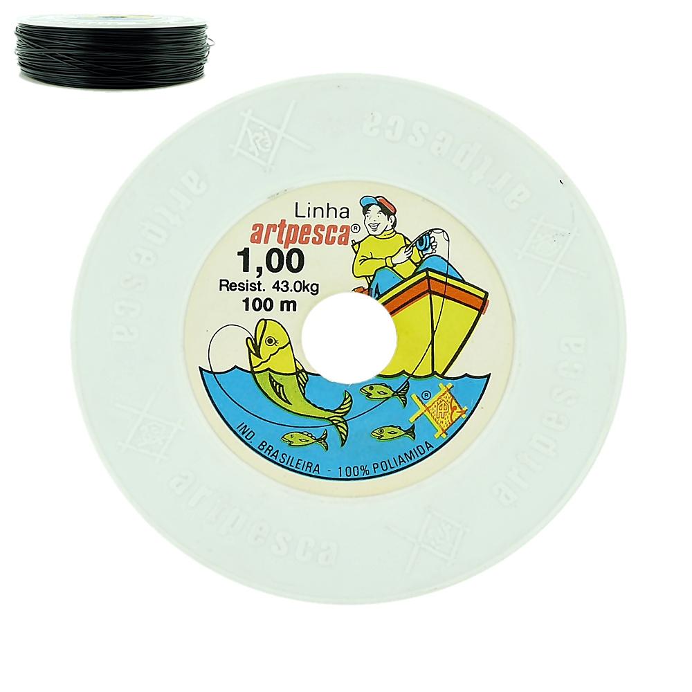Linha de Nylon - 1,00mm - 100m  - Nathalia Bijoux®
