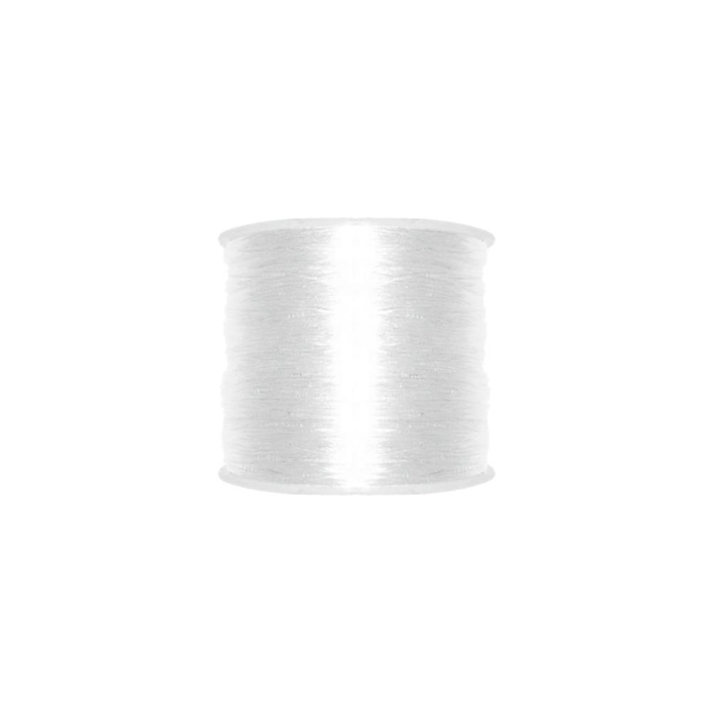 Fio de Silicone - Transparente - 0.5mm - 100m  - Nathalia Bijoux®