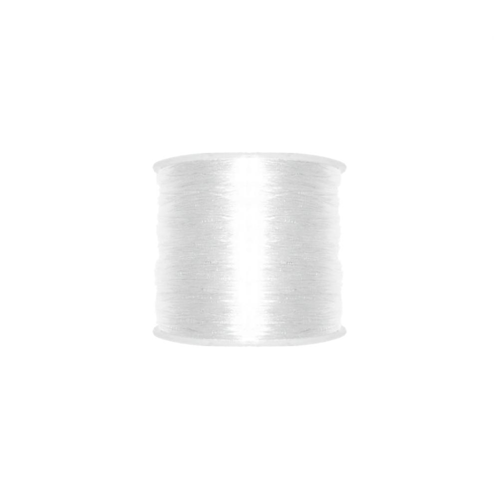 Fio de Silicone - Transparente - 0.8mm - 100m  - Nathalia Bijoux®