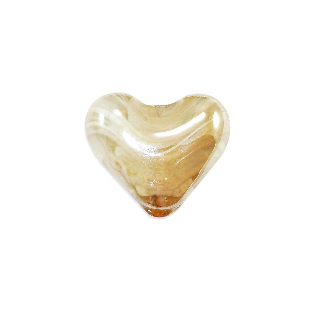 Entremeio Coração de Murano - 30mm  - Nathalia Bijoux®
