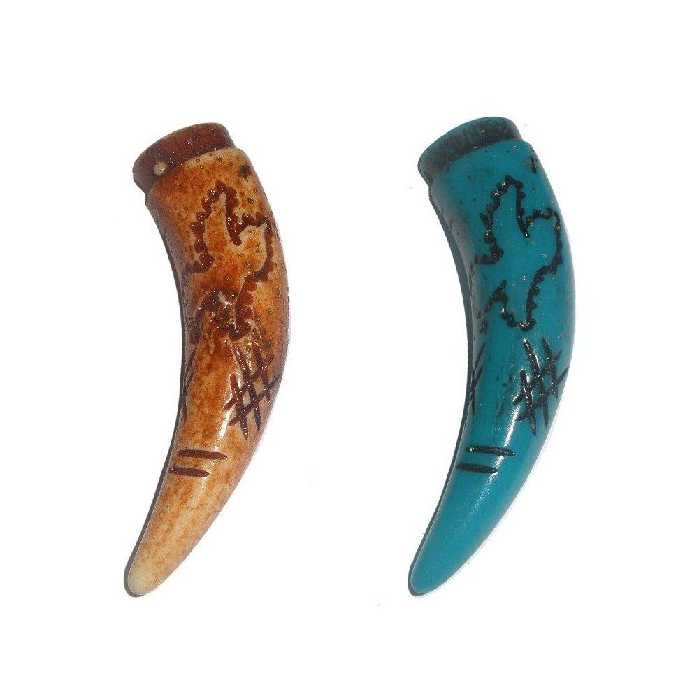 Pingente Chifre de Resina - 65mm  - Nathalia Bijoux®