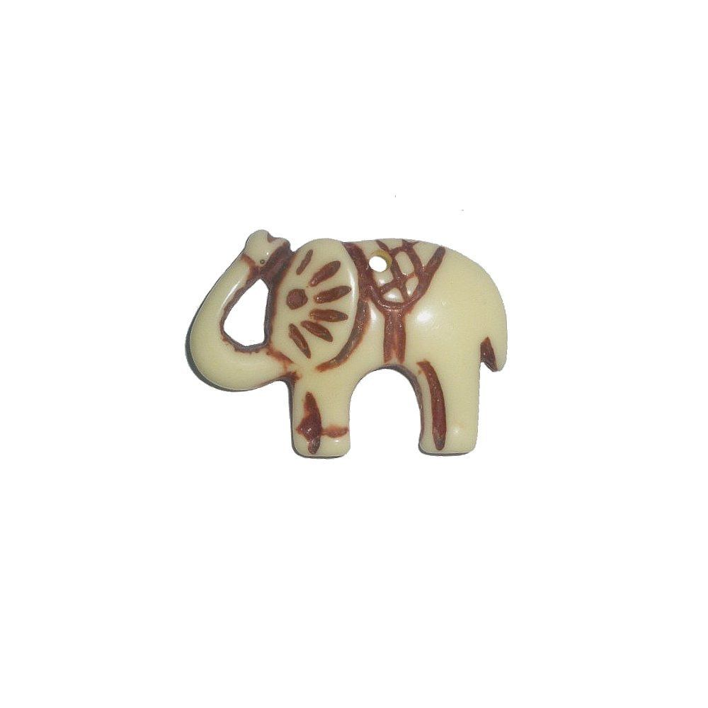 Pingente Elefante de Resina - 32mm  - Nathalia Bijoux®