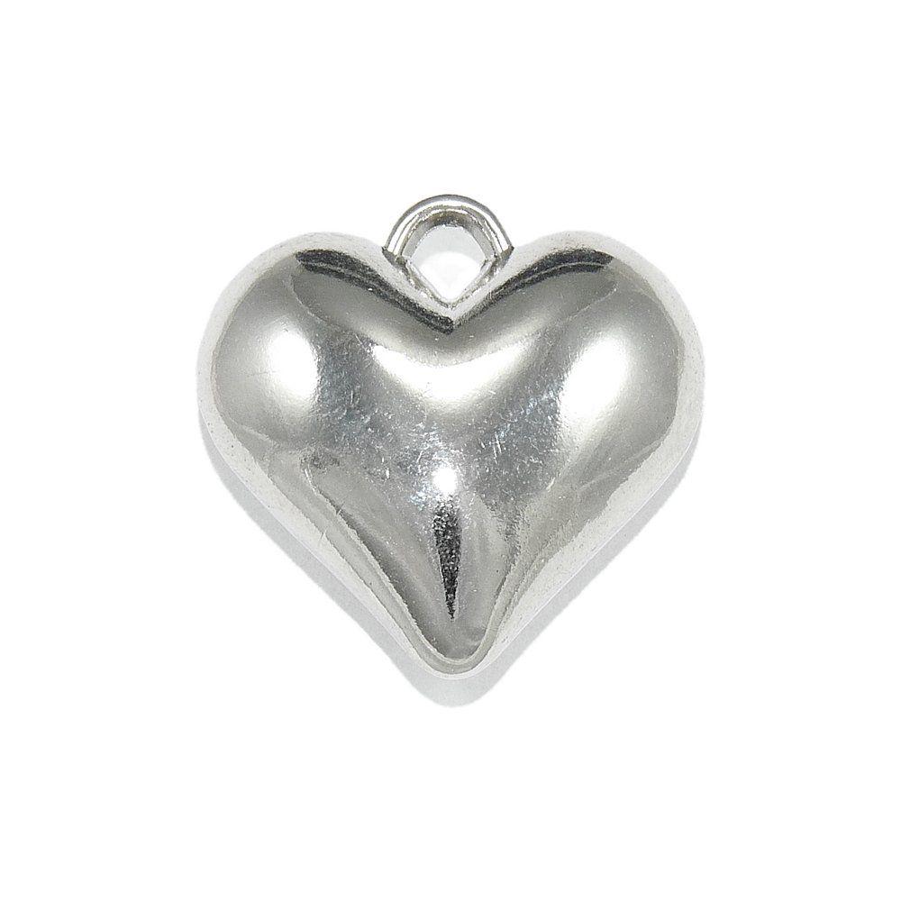 Pingente Coração de ABS - 24.5mm  - Nathalia Bijoux®