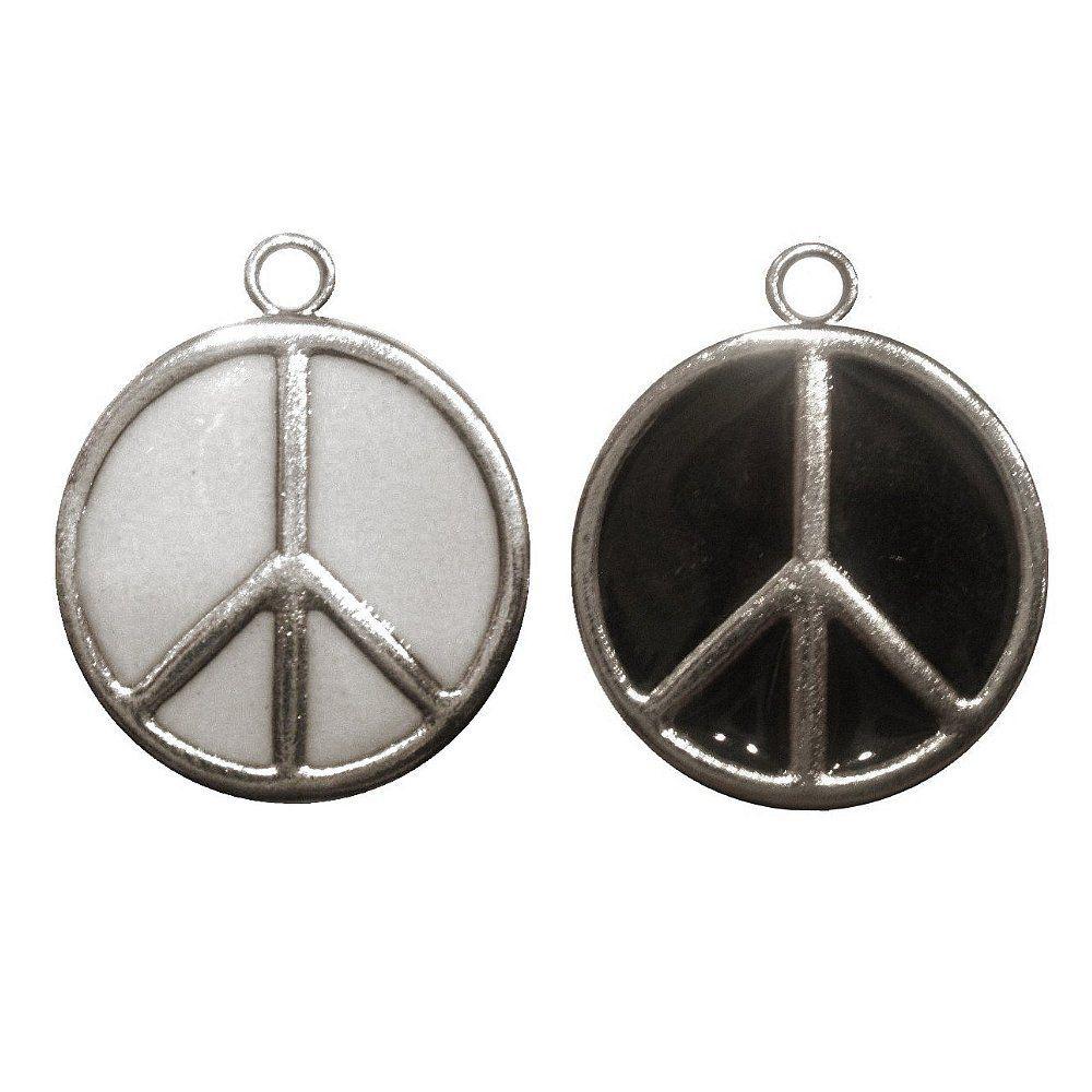 Pingente Símbolo Hippie de Metal - 25mm  - Nathalia Bijoux®